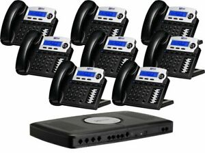 Xblue X16 Small Office Phone System With 8 Charcoal Telephones Xb2022 28 ch