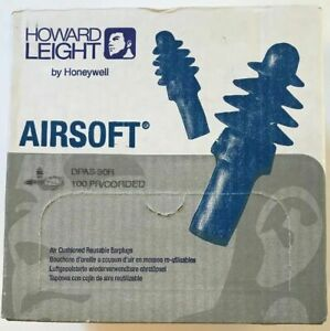 Howard Leight Dpas 30r Airsoft Reusable Corded Ear Plugs Nrr 27 100 Pair Box