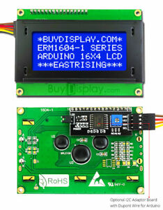 Blue Iic i2c twi Character 16x4 Serial Lcd Module Display For Arduino W library