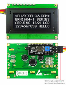 Black Iic i2c twi Character 16x4 Serial Lcd Module Display For Arduino W library