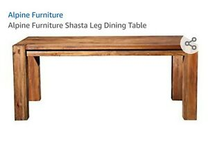Shasta Leg Dining Room Table Mahogany