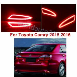 For Toyota Camry 2015 2016 Car Led Rear Warning Bumper Turn Signal Brake Light