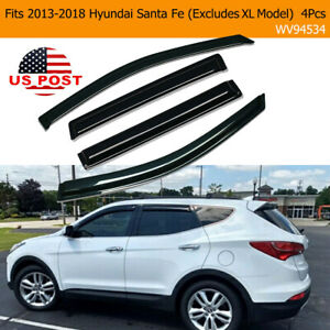For 2013 2018 Hyundai Santa Fe Smoke Window Visor Sun Rain Guards Wind Deflector