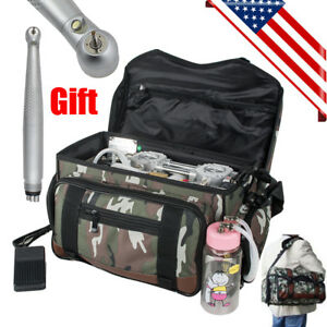 Portable Outdoor Backpack Dental Turbine Unit 4hole Air Compressor Suction gift
