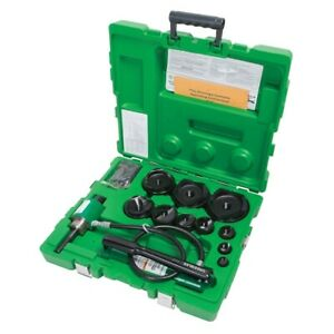 Greenlee 7310sb 1 2 4 Slug buster Ram And Hand Pump Hydraulic Driver Kit