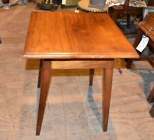 Vintage Oak Table With Splay Legs Antique Furniture