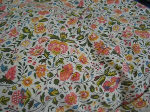 Handmade Waverly Fabric Bed Cover Cottage Floral Full 88 X 110 Lg Nice
