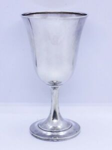 Watson Co 925 Sterling Silver 6 1 2 Tall Water Wine Goblet Cup Glass 1062707