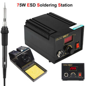 75w Esd Digital Soldering Rework Station Welding Iron Kit Desoldering Gun Lcd