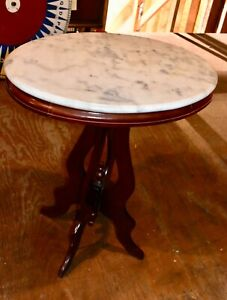 Vintage Marble Top Hall Entry Accent Table Used Furniture