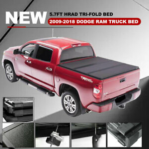 5 7ft Fold Hard Solid Tonneau Cover Bed Cover light For Dodge Ram 1500 2500 3500