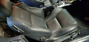 2005 Pontiac Gto Front Seats Pair Electric Black Leather Oem No Rips