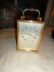 Vintage Brass 8 Day Clock From Shreve Crump Low Co Swiss Ship Carriage