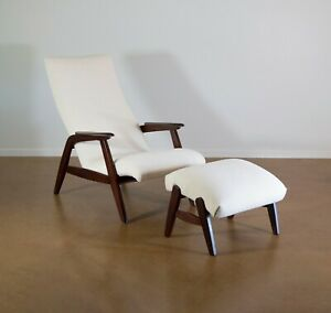 Mid Century Lounge Chair And Ottoman Jio Mobler 1960s Restored Free Shipping