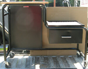 Utility Cart Indoor General Or Audio Video A v 2 Tier On Wheels W Drawer