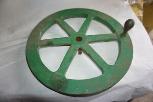 Vintage Cast Iron 14 With A 7 8 Bore Machine Hand Wheel Steampunk Industrial