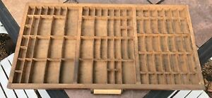 Antique Wooden Printer Tray Shadow Box More Available