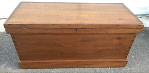 Refinished Antique Carpenters Tool Chest Great Blanket Chest Hand Cut Dovetails