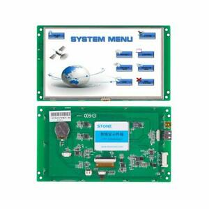 Intelligent Hmi Tft Lcd Industrial 7 Inch Display Module With Serial Interface