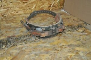 Klein S5282n24 Leather Lineman Safety Climbing Belt Size 40 48 Used Free Ship