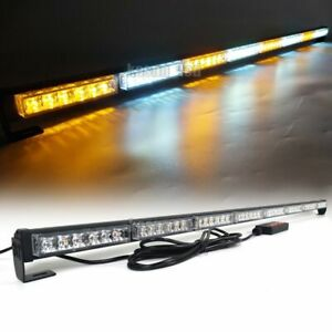 50 Inch Amber White 48 W Led Traffic Advisor Light Bar Strobe Car Warning Flash