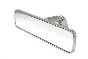 Polished Aluminum Ball Milled Universal Interior Rear View Mirror Street Hot Rod