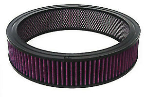 14 X 4 Round Washable Reusable Air Filter Pro Street Rod Hot Rod Air Cleaner