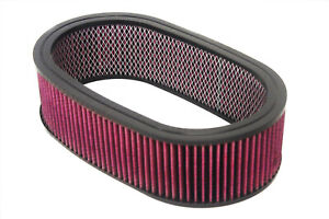 15 X 4 Oval Washable Reusable Air Filter Pro Street Rod Hot Rod Air Cleaner
