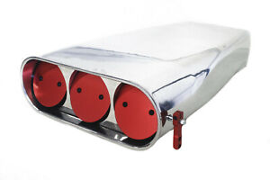 Polished Aluminum Red Butterfly Street Scoop Air Cleaner Blower Tunnel Ram Rod