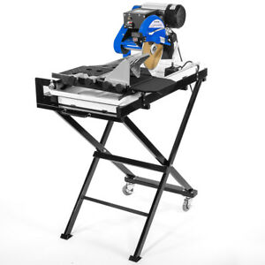 Industrial 2 5hp Motor 27 Wet Tile Saw Cut Laser Guide Tray With Folding Stands