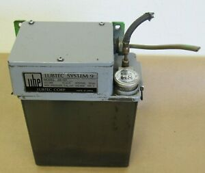 Ube Lubricator Lube Tank Lubtec System 9 Model S9 121 100v From Ikegai Lathe