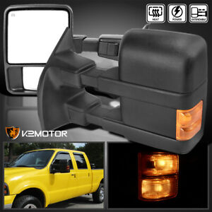 For 1999 2016 Ford F250 F350 Super Duty Power Heated Signal Tow Mirrors Pair