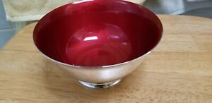 Reed And Barton Sterling Silver 925 Bowl Paul Revere Repro Red Enamel