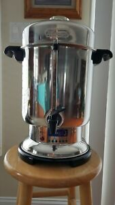Delonghi Urn 60 Cup Comercial Stainless Steel Coffee Maker Used In Great Shape
