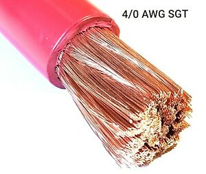 4 0 Gauge Battery Cable Red Sae J1127 Sgt Automotive Power Wire Sold Per Foot