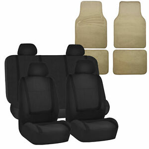 Auto Seat Covers For Car Suv Universal Seat Covers 12 Color W Beige Floor Mats