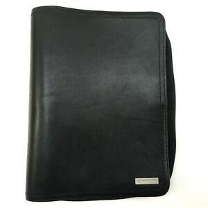 Franklin Covey Nappa Leather Planner Zip 7 ring Day Organizer Removable 1 binder