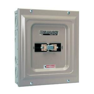 Reliance Controls Utility Generator Transfer Switch 60 Amp Indoor Double Pole