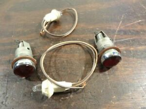Nos Original Vintage Red Jeweled Dash Lights New Wiring Model T A Ford R960