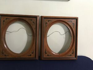 Pair Of Antique Eastlake Victorian Shadow Box Wood Picture Frames Pat D 1971