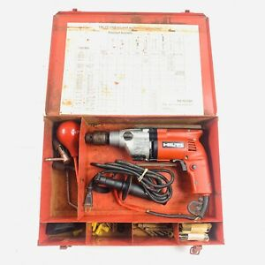 Hilti Tm 7sii Vsr Rotary Hammer Drill Corded With Bits And Taps