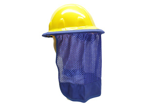 Hard Hat Neck Shade Neck Protector Quick Dry Mesh Royal Blue