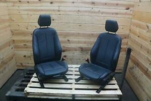 Set Of 2 Front Left Right Sport Seat Black Leather Coupe Bmw F22 2 series 14 18