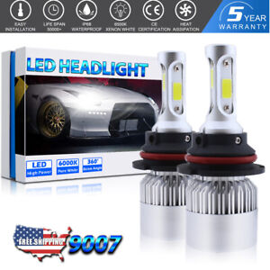 9007 Hb5 Led Headlights Bulbs 1400w 210000lm Kit High Low Beam 6000k High Power