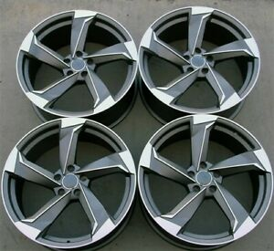 Set 4 19 19x8 5 5x112 Rs Style Wheels Audi A5 S4 S5 S4 R8 A6 Q5 A8 Q3