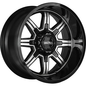 4 20x9 Black Machined Menace 6x135 6x5 5 18 Wheels Terra Grappler G2 Tires