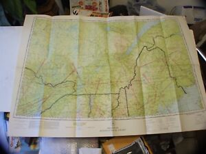 Vintage Rare 1942 Restricted Aeronautical Chart Map Ne Usa Canada 40 X 27