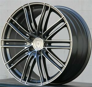 4 Set 22x10 5x130 Turbo Style Wheels Tires Pkg For Porsche Cayenne Touareg