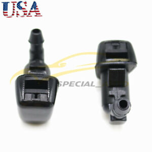 2 Windshield Washer Spray Jet Nozzle For 07 10 Ford Edge Lincoln Mkx Focus 08 10