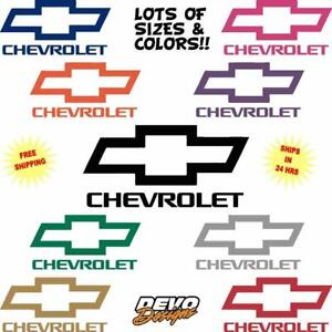Chevrolet Bowtie Vinyl Decal Sticker Car Truck Van Trailer Window Die Cut Decal